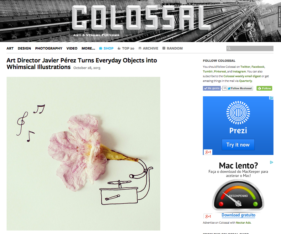 Instagram Experiments en el blog Colossal